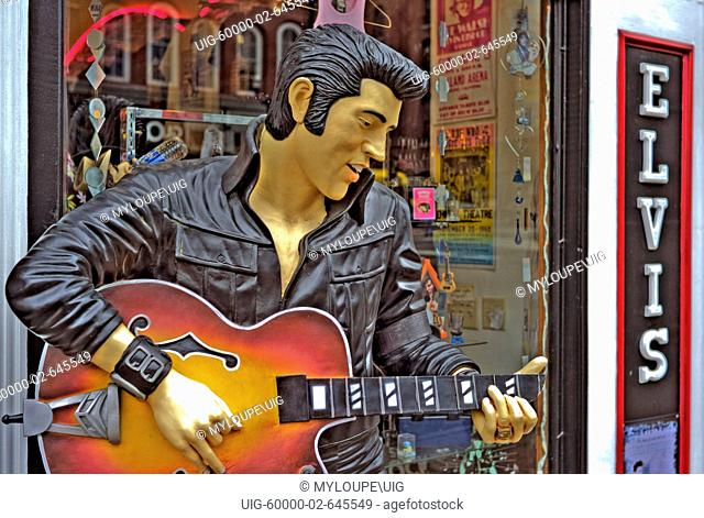 Elvis on Broadway in Downtown Nashville, Tennessee