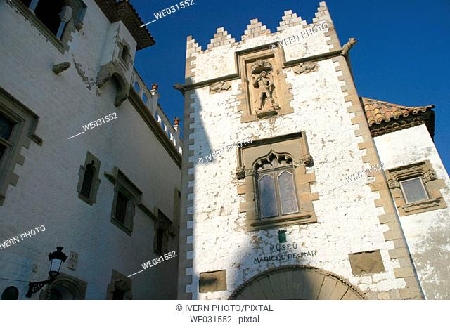 Maricel Palace, Sitges. Barcelona province, Catalonia, Spain