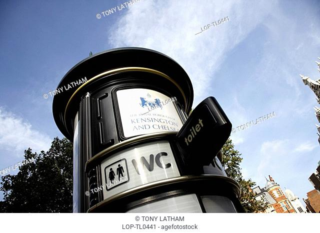 England, London, Sloane Square, Public toilet in Sloane Square