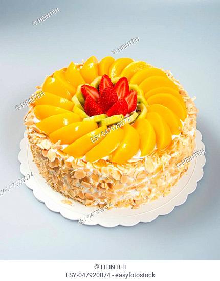 cake or fruit cake on a background