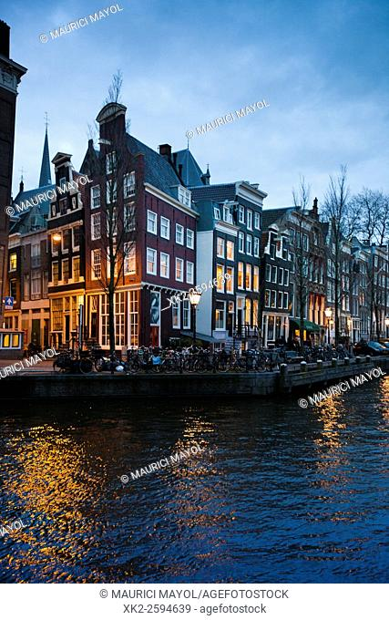 Corner house in Herengracht canal Amsterdam
