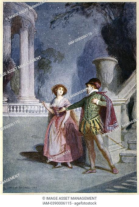 Scene from Mozart's opera 'Don Giovanni' 1787 c1914  Opera by Wolfgang Amadeus Mozart 1756-1791, Austrian composer, first performed in Prague in 1787  The...