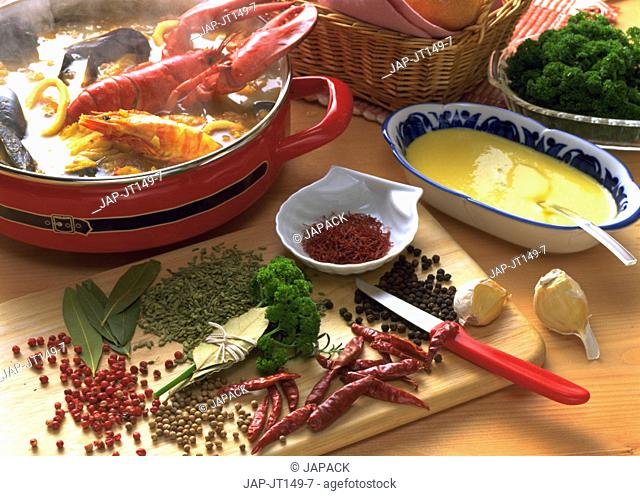 Spices and lobster stew