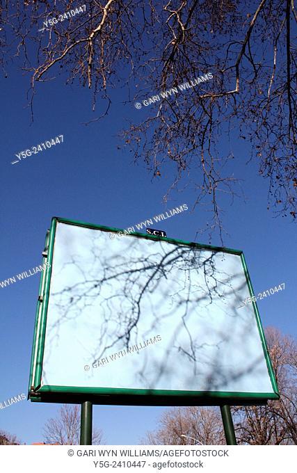 Empty billboard sign in rome italy