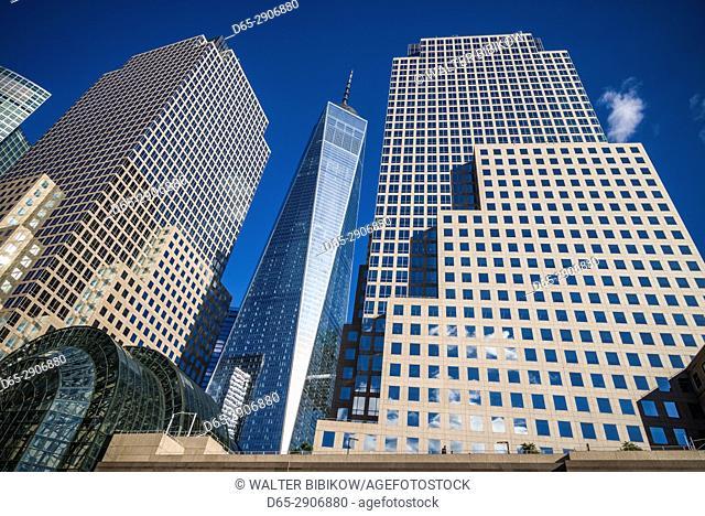 USA, New York, New York City, Lower Manhattan, The Freedom Tower