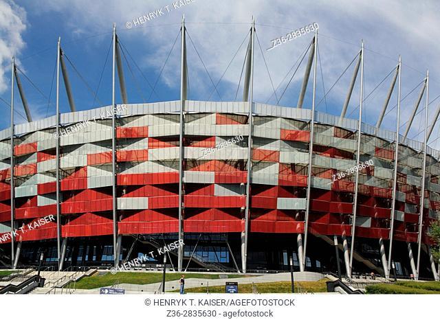The National Stadium, (Stadion Narodowy) in Warsaw, Poland