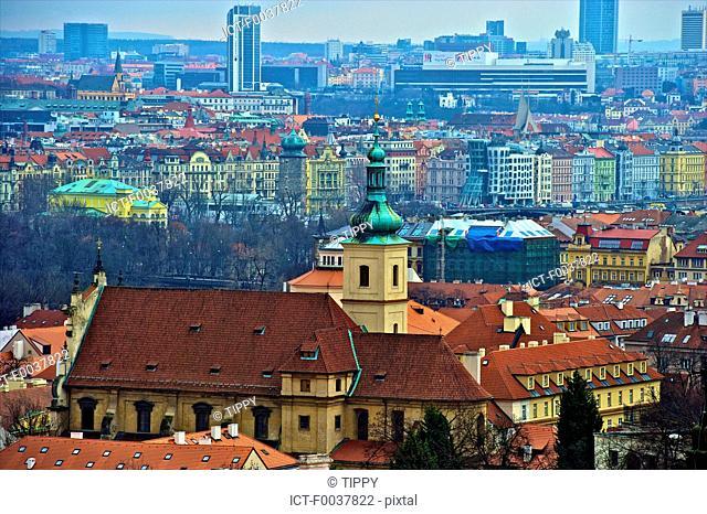 Czech Republic, Prague, roofs