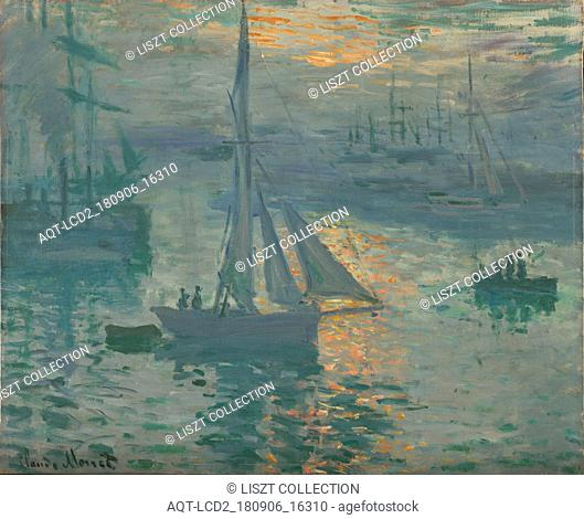 Sunrise (Marine); Claude Monet (French, 1840 - 1926); France; March or April 1873; Oil on canvas; 50.2 × 61 cm (19 3,4 × 24 in.)