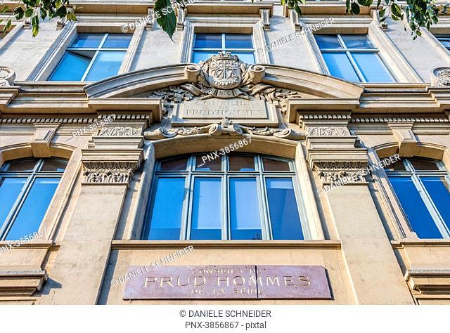 France, Paris, 4th arrondissement, Ile de la Cite, building of Conseil des Prudhommes (Labour Court) of the Seine river, rue Aube