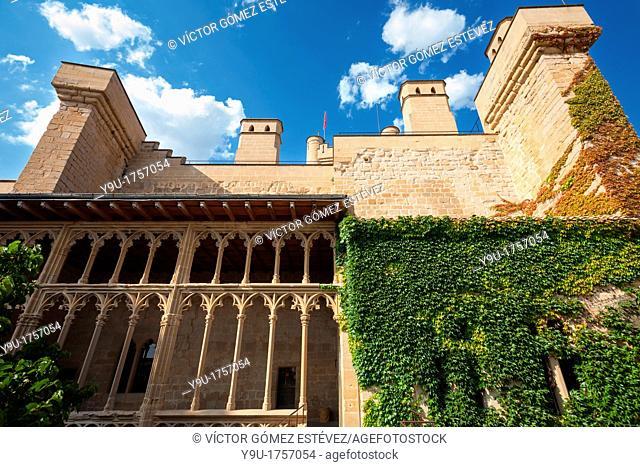 Main facade of Olite's Castle, Navarre, Spain