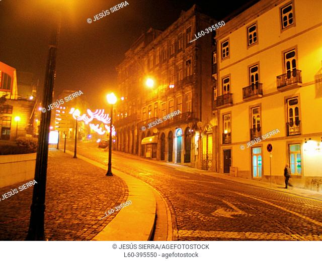 Street at night. Oporto. Portugal