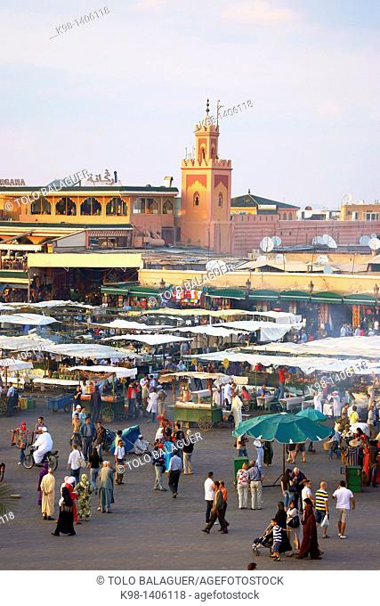 Djem'a el-Fna Square, Marrakech Morocco, North Africa, Africa