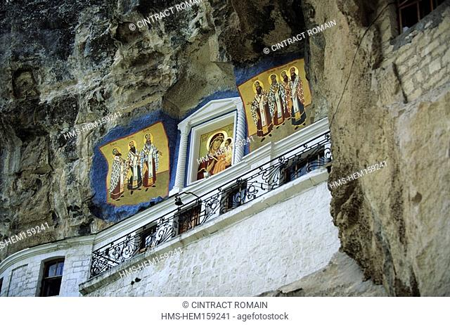 Ukraine, Crimea, the Ouspenski convent, the icons