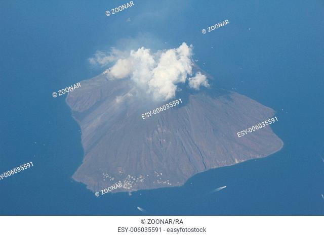 Stromboli Volcano Island in Italy