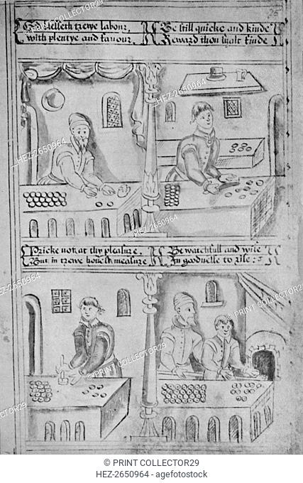 'Bakers at Work (MS. Add. 34, 605)', 1903. Artist: Unknown