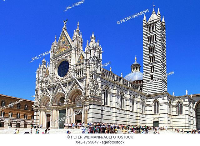 Italy, Tuscany, Siena, Duomo Santa Maria Assunta, UNESCO World Heritage