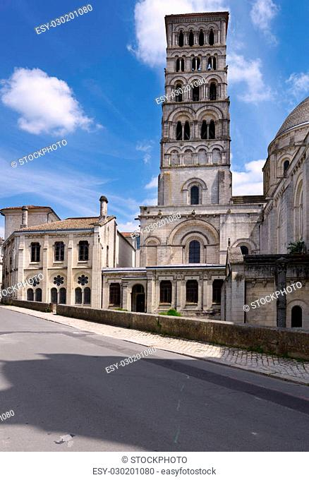 Tower of St. Peter Cathedral in Angouleme, Poitou Charentes, France