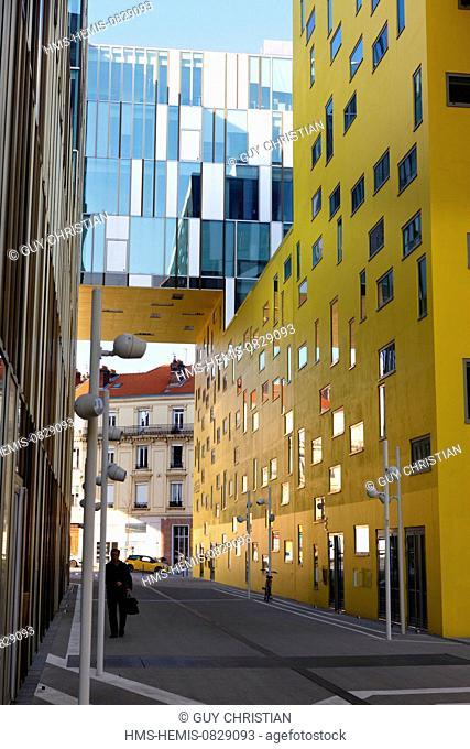 France, Loire, Saint Etienne, contemporary architecture, building of public finances, Cite Gruner