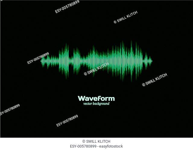 Green sound waveform