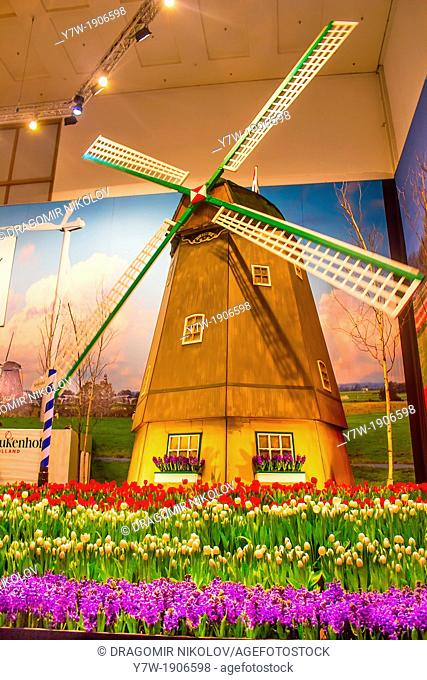 The Dutch Windmill on International Green Week to the Public on January 18, 2013 in Berlin, Germany