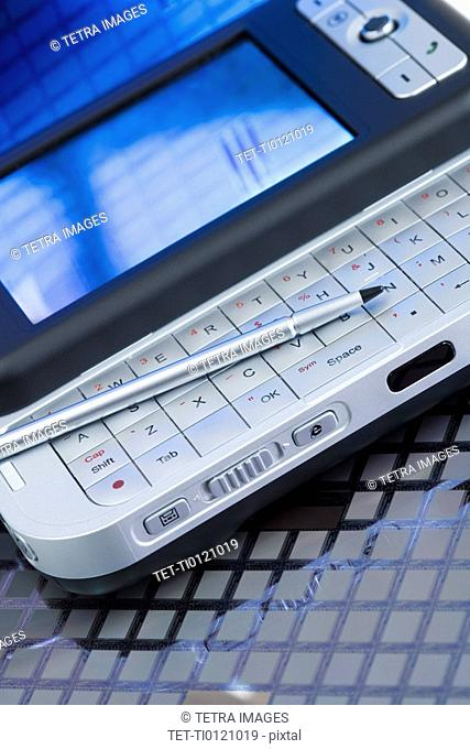 Close up of electronic organizer