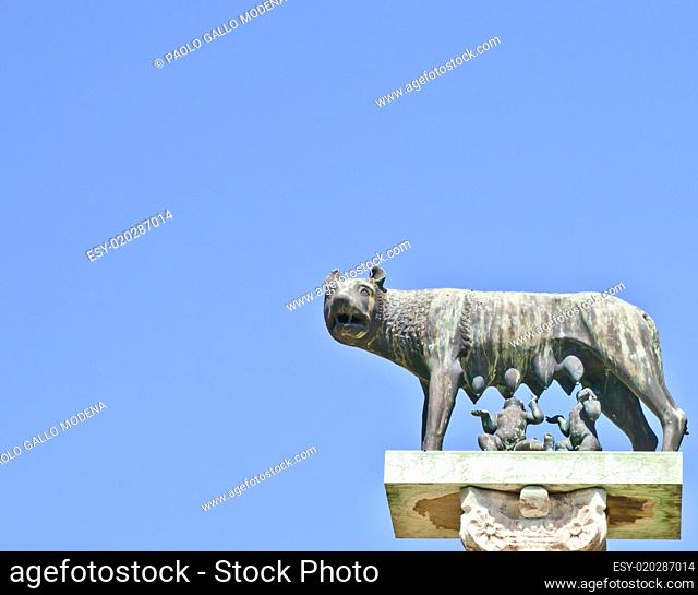 Wolf with Romulus and Remus