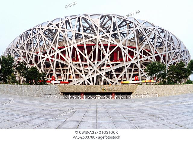Beijing, China - The view of Chinese National Stadium in the daytime