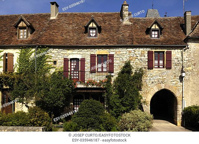 The hill top village of Loubressac (Lot, France)