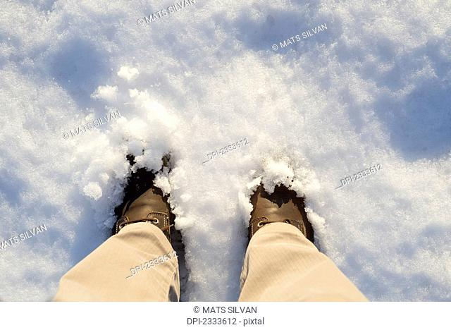 Feet in the snow;Ascona ticino switzerland