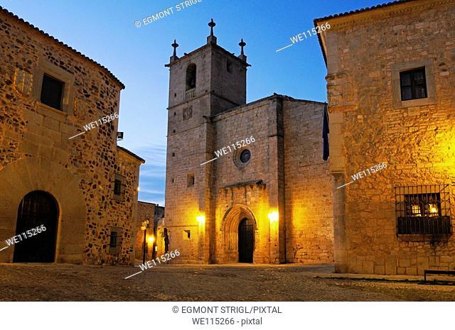 historic oldtown, Ciudad Monumental of Caceres, Unesco World Heritage Site, Extremadura, Spain, Europe public ground