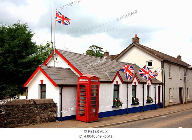 Northern Ireland, Ballymoney, telephone booth