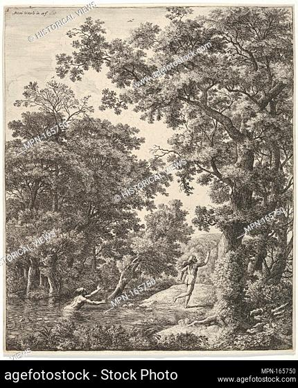 Landscape with Alpheus and Arethusa, from the Series of Six Mythological Scenes. Artist: Anthonie Waterloo (Dutch, Lille 1609-1690 Utrecht); Date: 17th century;...