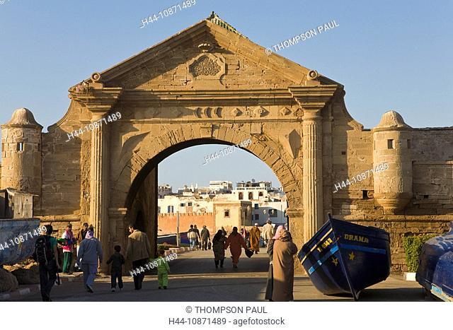 City gate and walls of Essaouira, Morocco