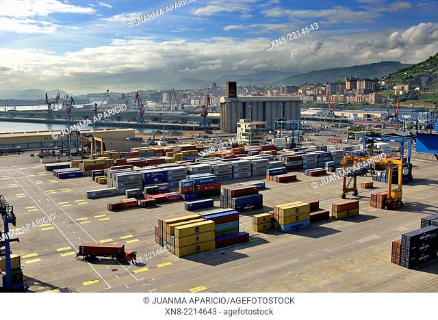 Port of Bilbao, Biscay, Basque Country, Euskadi, Spain, Europe,