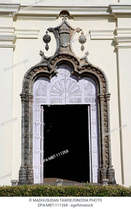 Main Entrance Door, Church Of St. Francis Of Assisi , Built In 1521 A.D., UNESCO World Heritage Site , Old Goa , Velha Goa , India