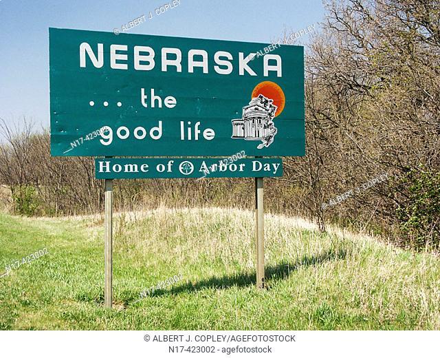 Welcome to Nebraska sign