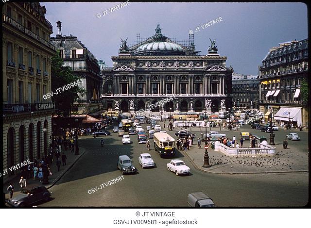 Opéra Garnier, Place de l'Opéra, Paris, France, 1961