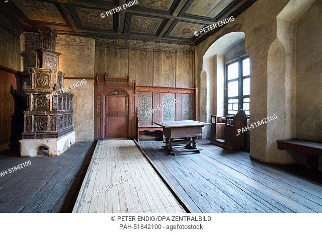 The Luther Room in Luther's House in Wittenberg, Germany, 10September 2014. The room has the original interior from the 16th century and is at the heart of the...