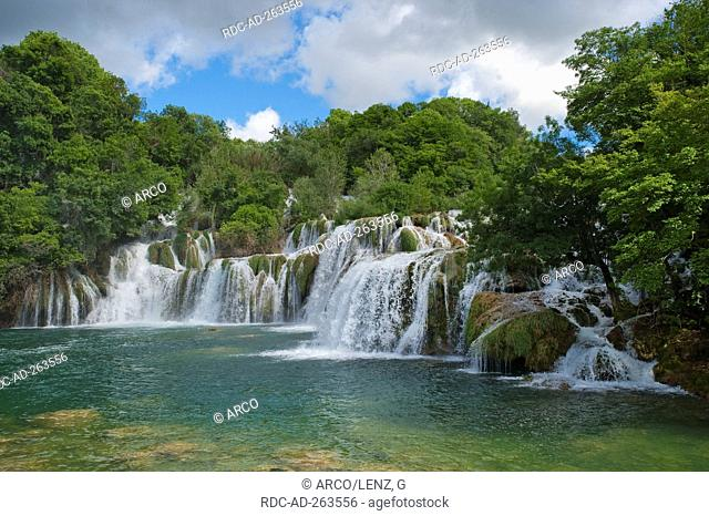 Krka waterfalls national park Krka Dalmatia Croatia