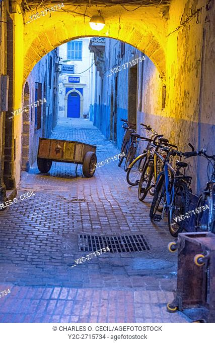 Essaouira, Morocco. Delivery Cart in a Medina Side-street