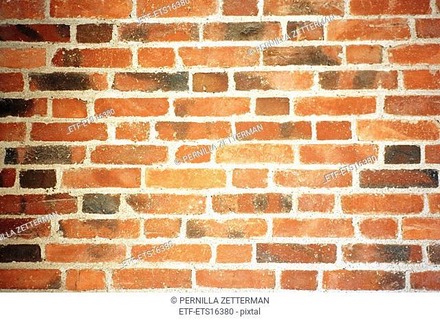 A brick wall, Sweden
