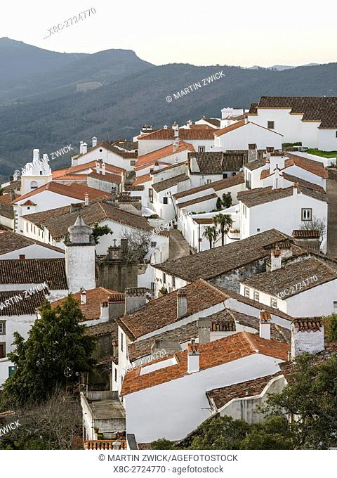 Marvao a famous medieval mountain village and tourist attraction in the Alentejo. Europe, Southern Europe, Portugal, Alentejo