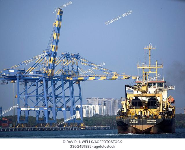 Industrial ship at Cochin, Kerala, India