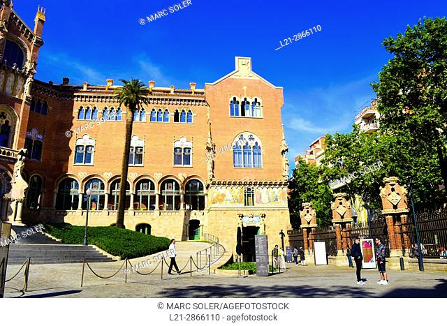 Hospital de Sant Pau (1902 - 1930), designed by architect Lluis Domenech i Muntaner. Eixample District, Barcelona, Catalonia, Spain
