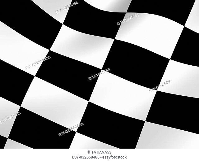 Checker background. 3d