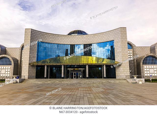 Exterior view, Xinjiang Museum, Urumqi, Xinjiang Province, China