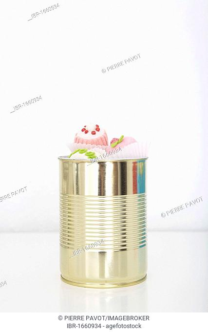 Chocolates in a tin can