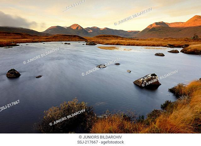 Rannoch Moor on the Isle of Skye in fall