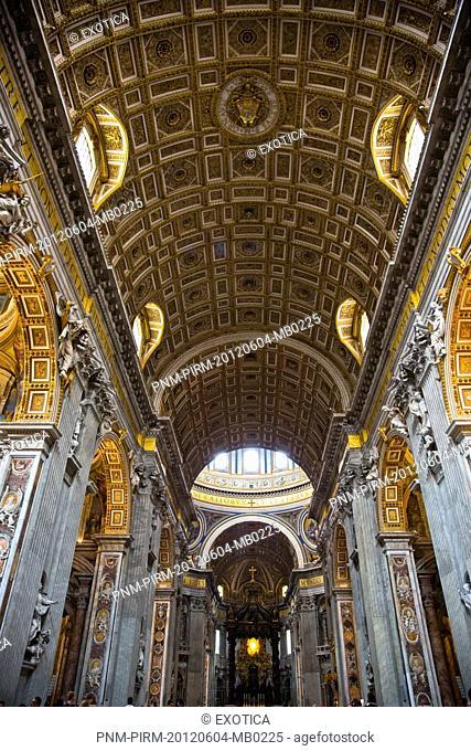 Interiors of St. Peter's Basilica, Vatican City, Rome, Lazio, Italy