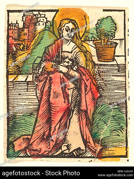 St. Agnes (copy). Artist: After Hans Baldung (called Hans Baldung Grien) (German, Schwäbisch Gmünd (?) 1484/85-1545 Strasbourg (Strassburg)); Date: after 1512;...